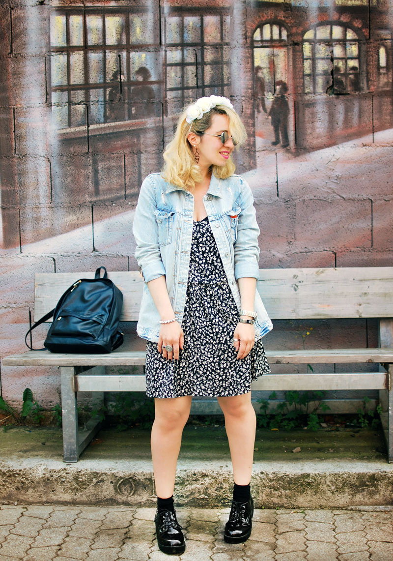 destroyed-denim-jacket-millefleurs-dress-forever21-outfit-blogger-fashion2
