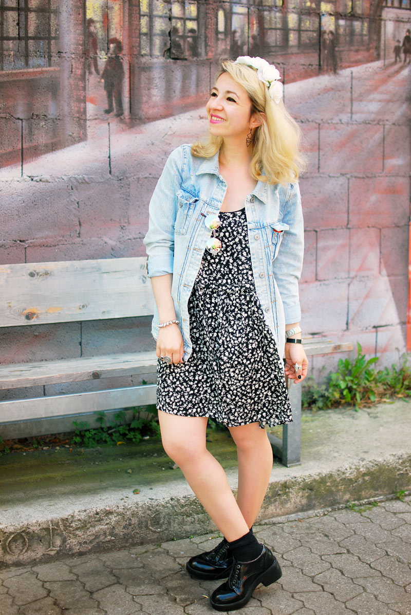 destroyed-denim-jacket-millefleurs-dress-forever21-outfit-blogger-fashion4