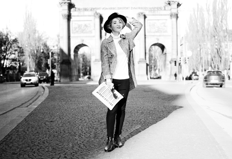 siegesbogen-muenchen-outfit-monochrom-trench-coat-topshop