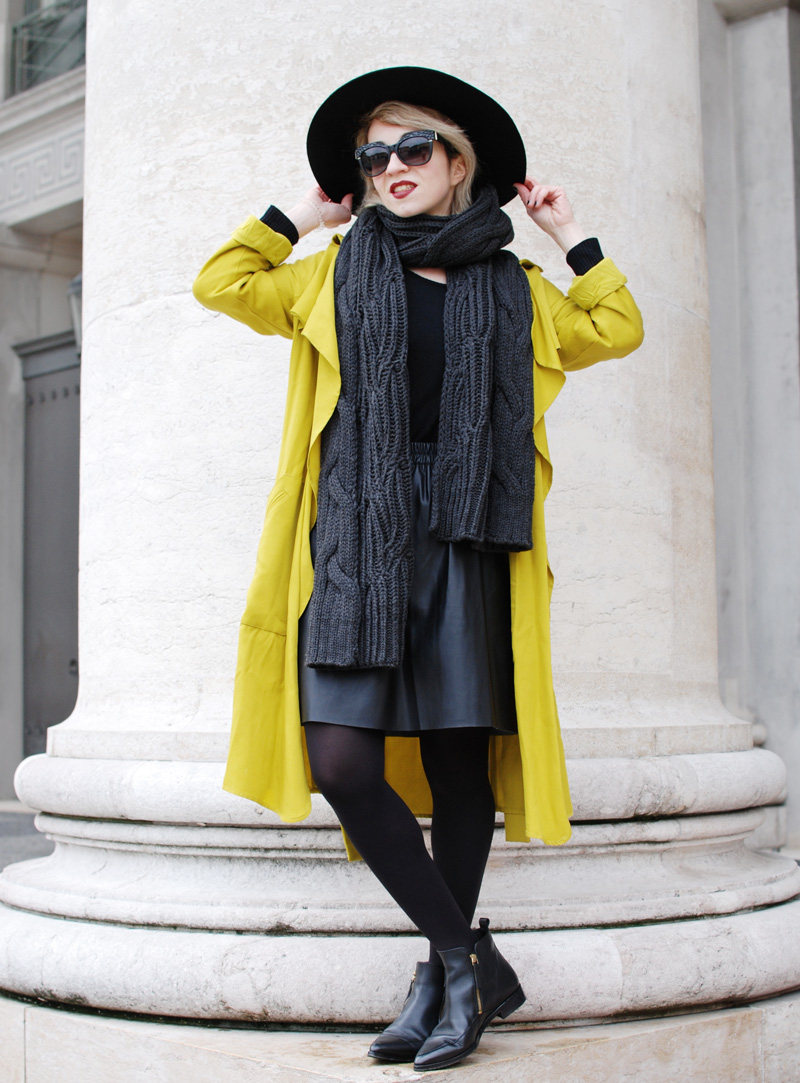 yellow-trench-zara-coat-leather-skirt-fashioblogger-munich-muenchen-nachgesternistvormorgen-outfit-1