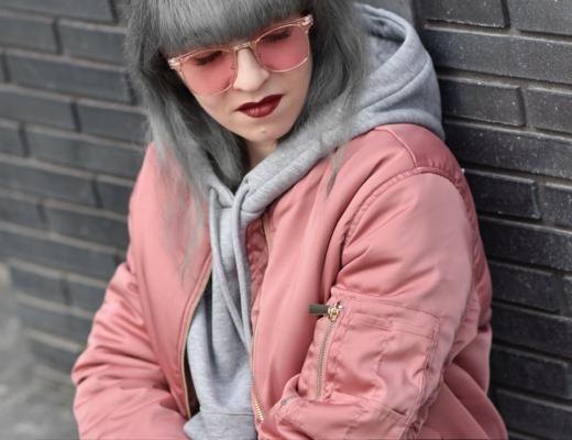 bomberjacke, blouson, fliegerjacke, ivyrevel, ootd, streetstyle, sporty, fashionblogger, modeblogger, muenchen, rosa, pink, rose, nachgestern