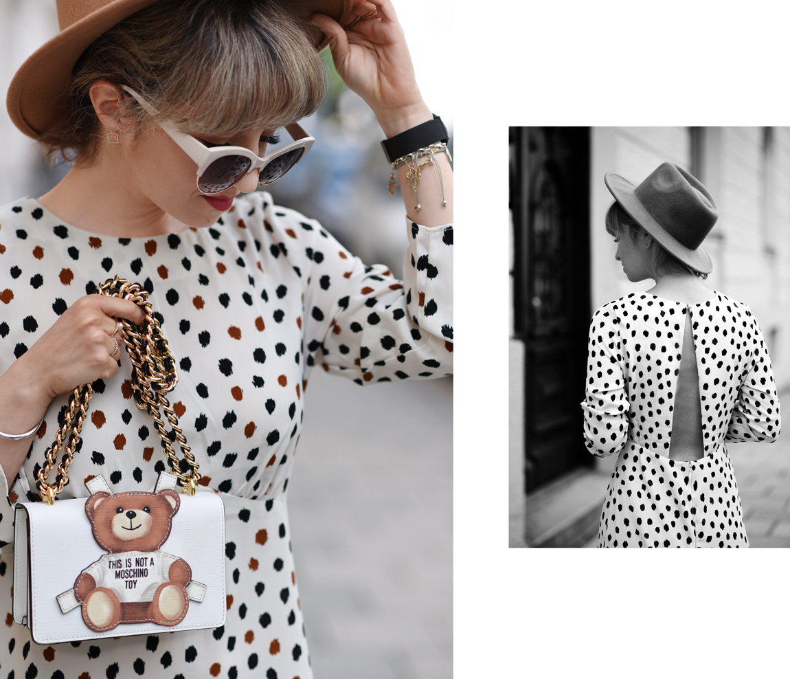 gepunktetes-kleid-midi-dress-fashionblogger-modeblogger-muenchen-style-punkte-dots-moschino-toy