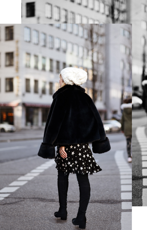 asos, asseenonme, sternen, kleid, print, dress, cute, fashionblogger, modeblogger, muenchen, hoegl, overknees, kunstfell, streetstyle, outift, berlin