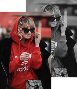 adidas, hoodie, rot, vichy, karo, skirt, rock, midi, volant, fashionblogger, modeblogger, berlin, ootd, streetstyle, outfit, inspiration