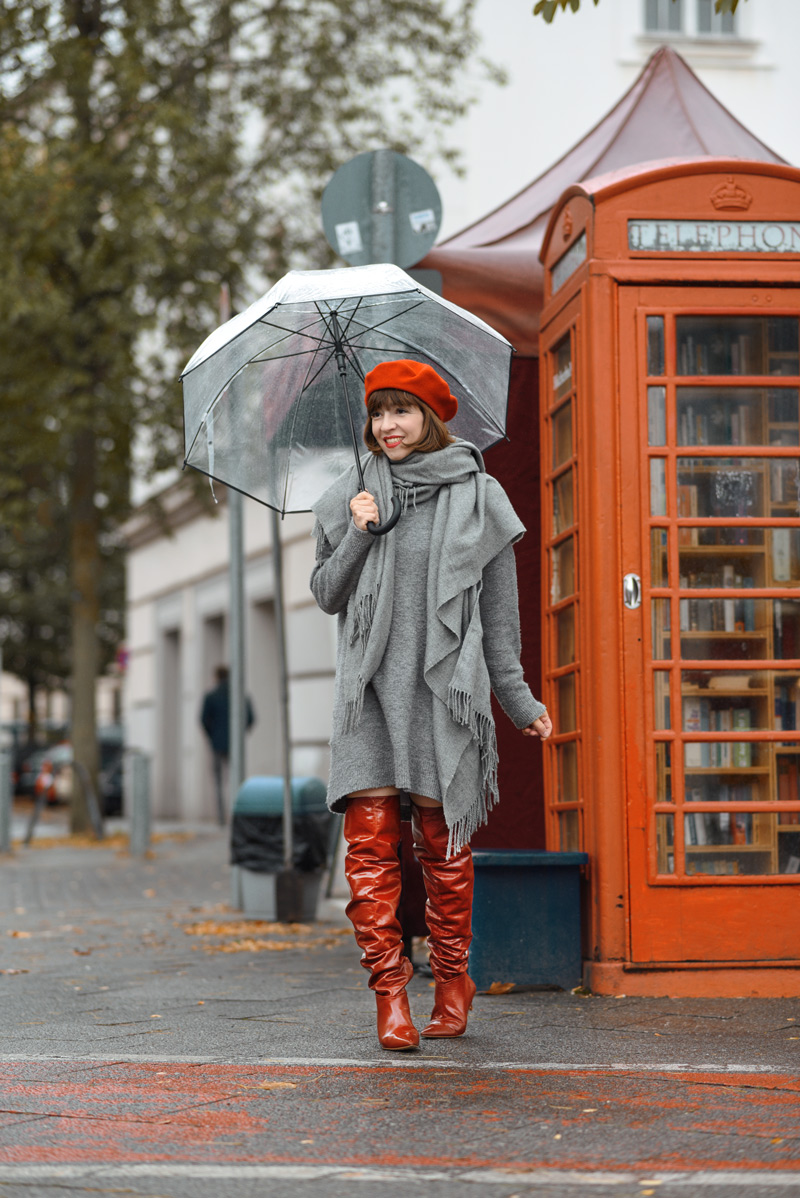 rote, overknees, berlin, herbst, outfit, strickkleid, suess, retro, streetstyle