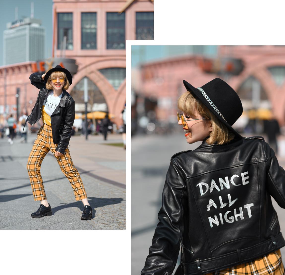 shoppen, in, berlin, diy, event, alexa, lederjacke, modeblogger, fashionblogger, fashionblog, dance, outfit, streetstyle, outfitinspiration, suess, vintage, karo, gelb, bershka, zara, shopping, shoppen, einkaufszentrum