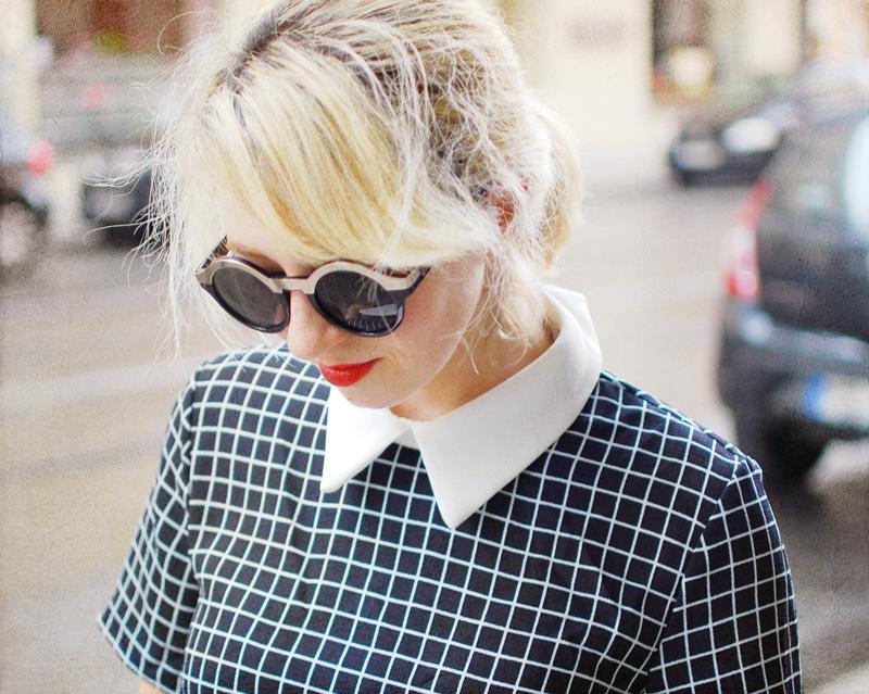 portrait-tartan-dress-bubikragen-60ies-retro-vintage-outfit-blogger-fashion