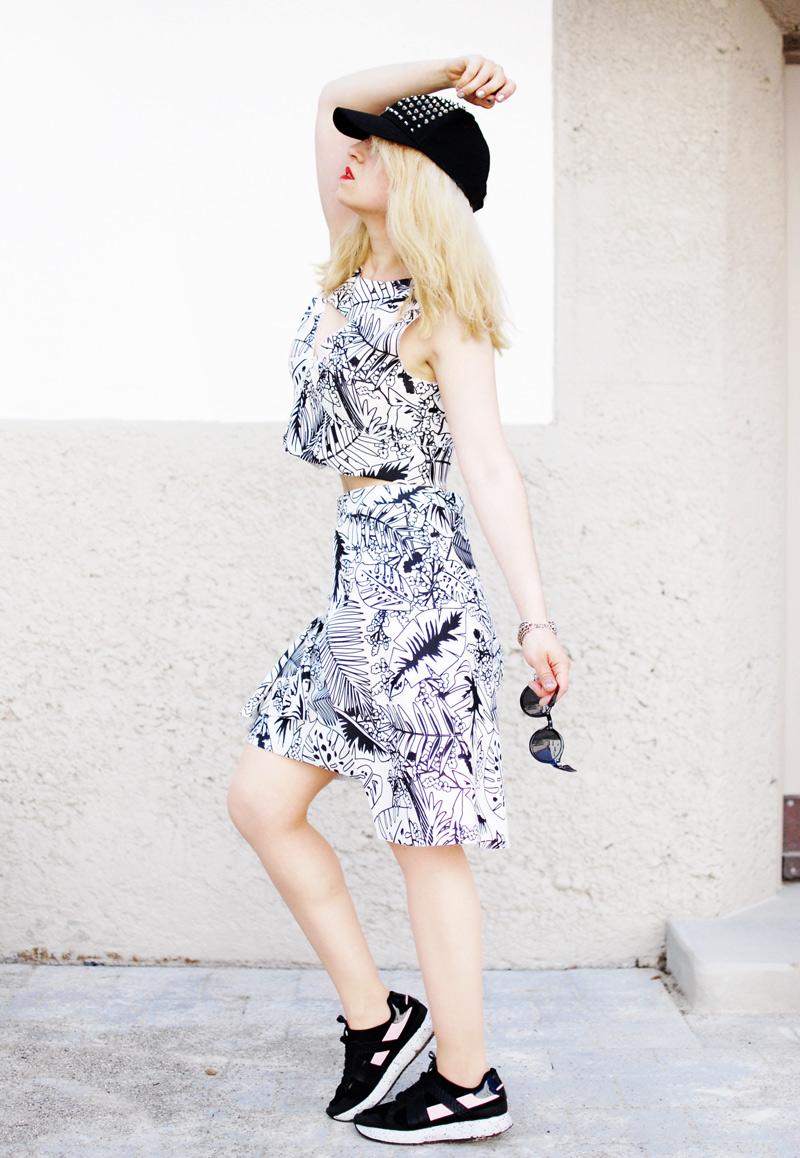zweiteiler-kostuem-zara-palm-print-tropical-skirt-outfit-fashionblog3-Kopie