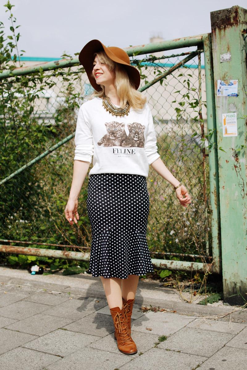 gepunkteter-rock-polka-dots-skirt-cognac-hat-schlapphut-celine-fashion-blogger-muc-nachgesternistvormorgen-5