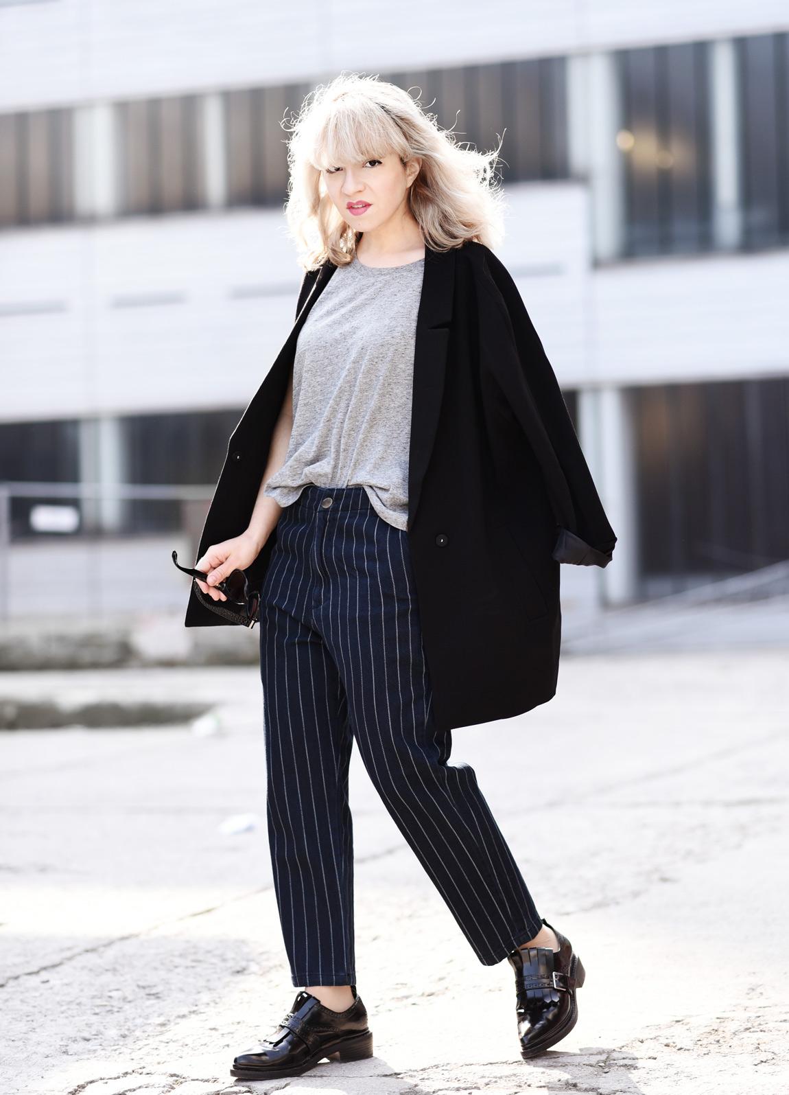 Outfit nadelstreifen jeans nachgesternistvormorgen for Garderobe 33 style blog