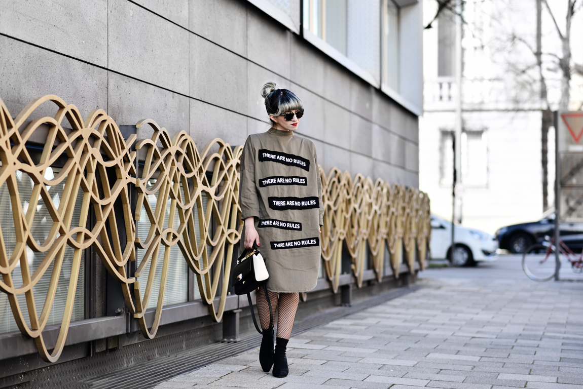 outfit, rules, zara, fashionblogger, modeblogger, muenchen, kleid, olivgrün, military, ootd, streetstyle, anarchie