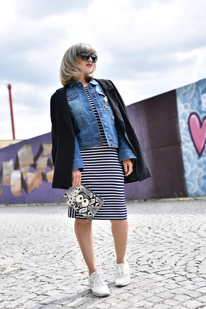 streifen, kleid, dress, striped, ootd, fahsionblogger, blogger, blog, modeblog, fashionblog, modeblogger, muenchen, streetstyle, editorial