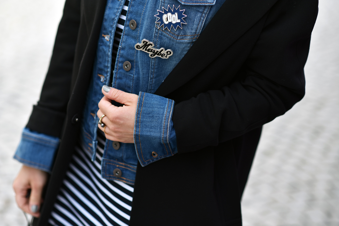 streifen, kleid, dress, striped, ootd, fahsionblogger, blogger, blog, modeblog, fashionblog, modeblogger, muenchen, streetstyle, editorial, denim, jeansjacke
