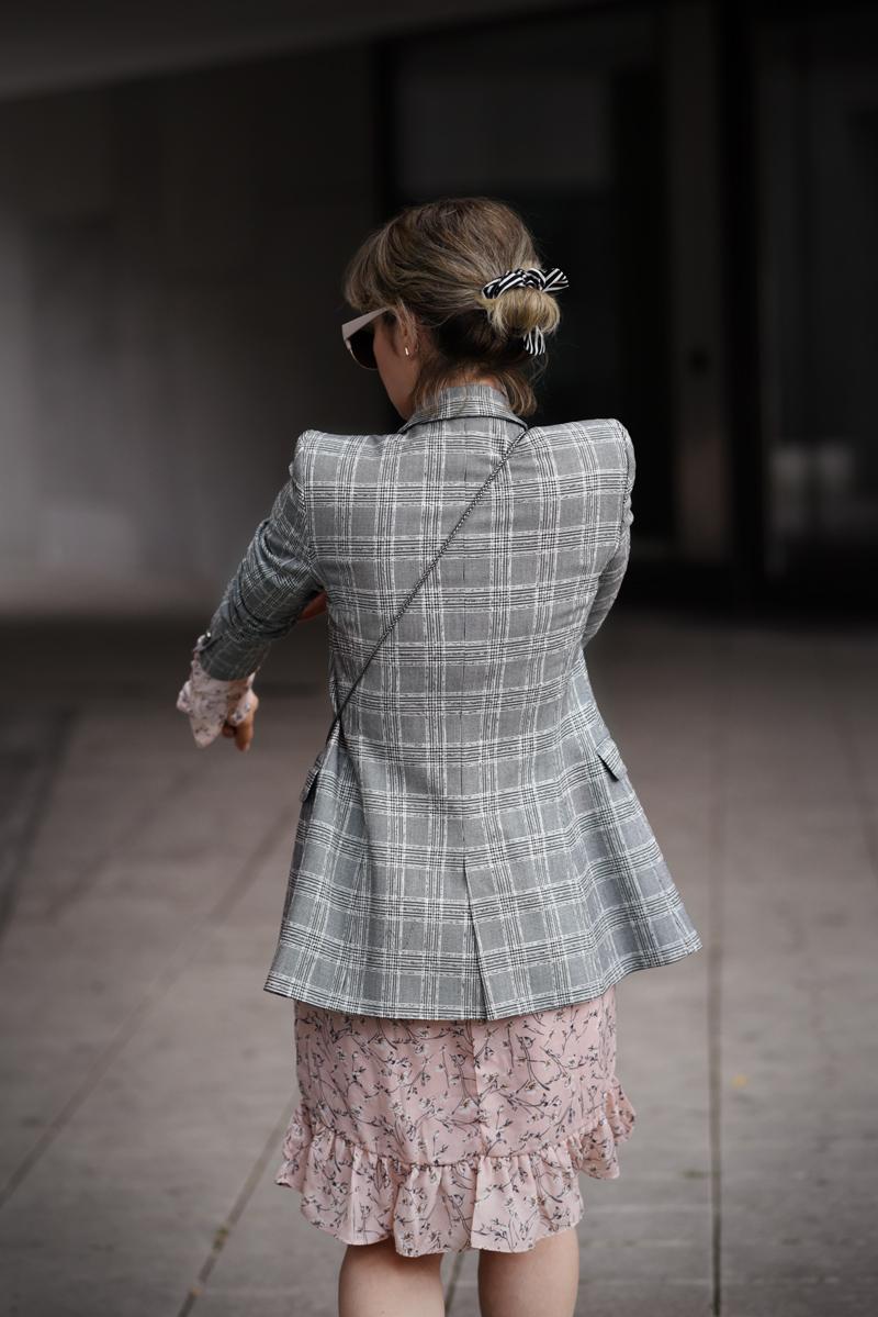 mustermix, zara, blazer, kleid, midi, bluemchen, modeblogger, fashionblog, muenchen