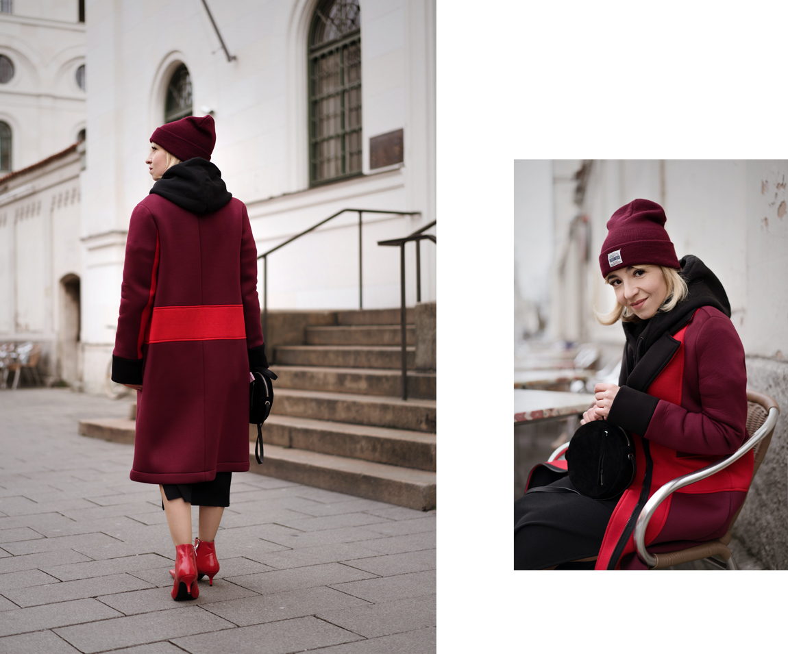 color, blocking, onemorestory, fashionblog, modeblogger, münchen, streetstyle, mantel, coat, red, rot, winter, outfit, inspiration, festtage, weihnachten, advent