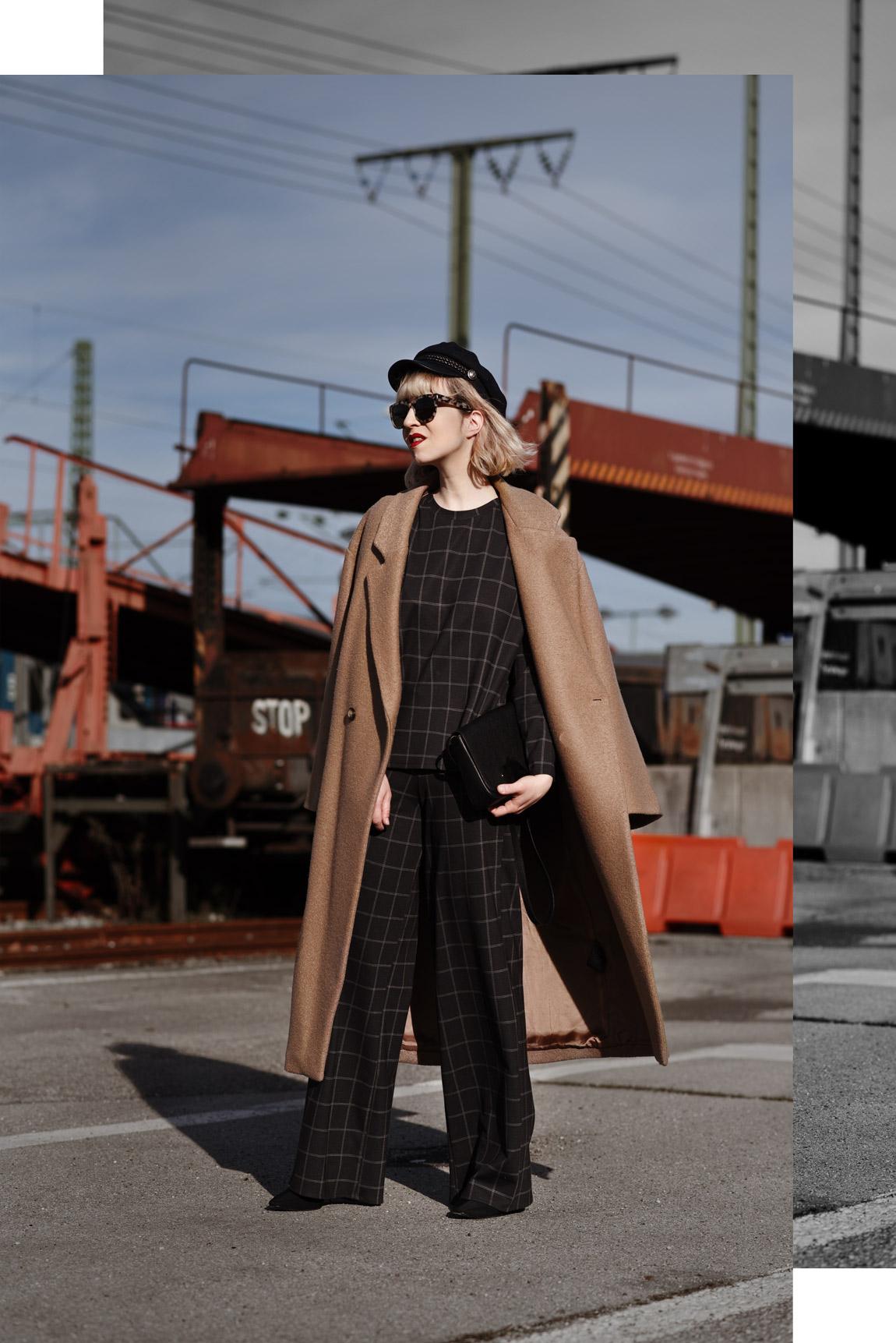 zweiteiler, ootd, outfit, zara, mantel, oversized, twopiece, fashionblogger, modeblogger, münchen, blog, style, look, streetstyle, inspiration, blond, karo, kariert