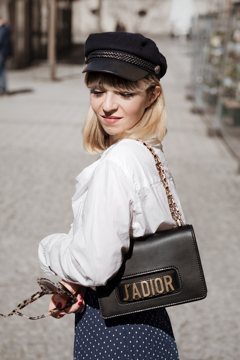 midirock, dior, jadior, itbag, bag, trend, streetstyle, fashionblogger, modeblog, muenchen, berlin, outfit, fruehling, blau