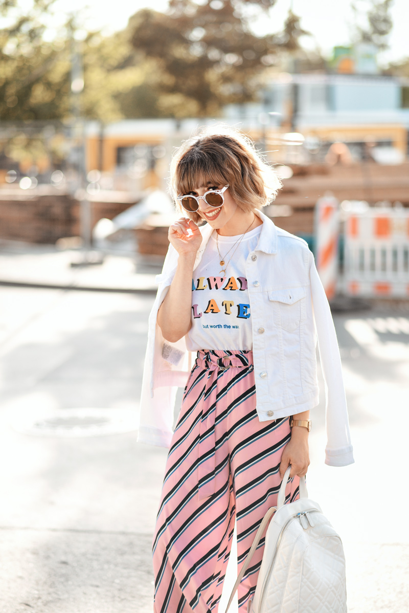 rosa, culotte, hosenrock, berlin, outfit, streetstyle, sommer, inspiration, fashionblogger, modeblogger, outfit, ootd, asos, streifen