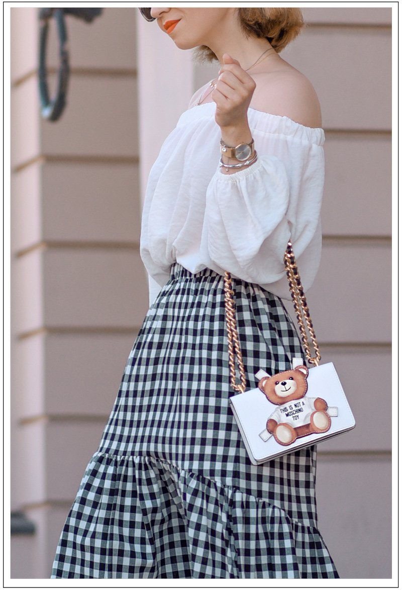 instagram, outfit, update, look, berlin, fashionblogger, modeblogger, sommer, styleblogger, kleidung, suess, retro, nostalgie, vichy, moschino, schulterfrei