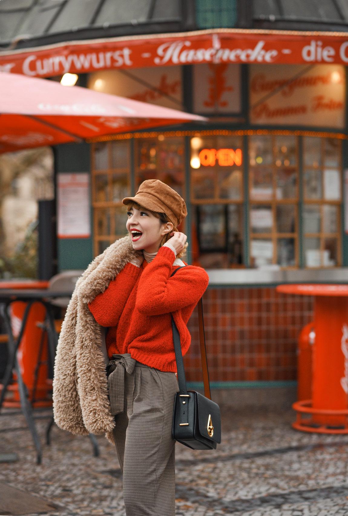 laestern, gesellschaft, outfit, berlin, fashionblog, lifestyleblogger, modeblog, outfit, winter, zara, kunstfell, jacke, teddy, braun, currywurst